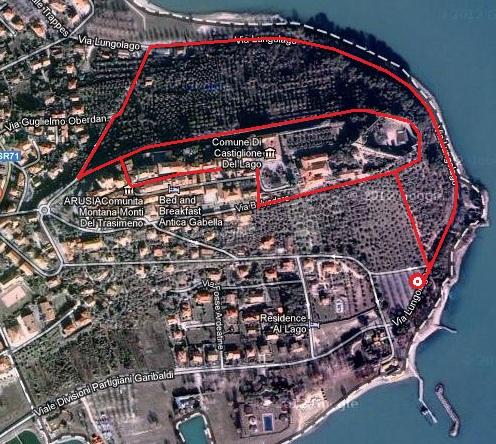 Mappa Castiglione del Lago