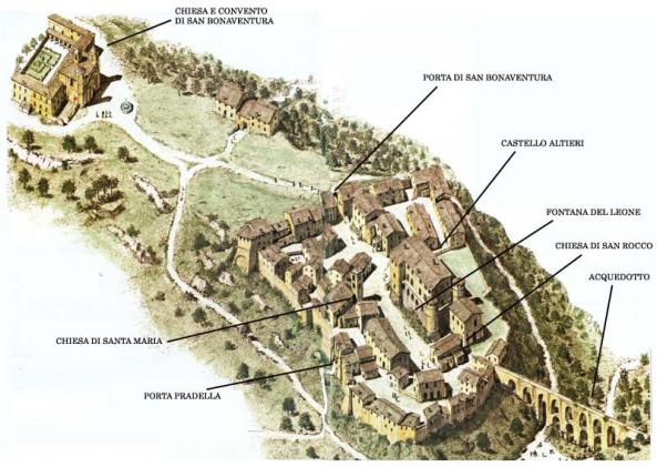 Mappa Monterano